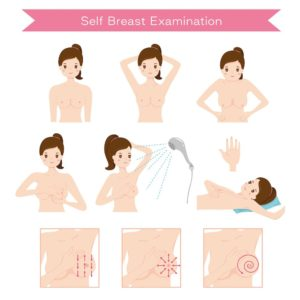 Monthly self breast exams ensure your breasts are healthy.